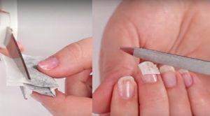 cómo arreglar una uña rota con una bolsa de té