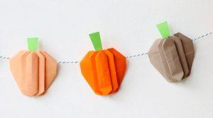 Origami calabaza Garland